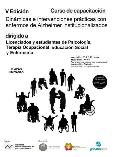 geriatricarea enfermos Alzheimer institucionalizados
