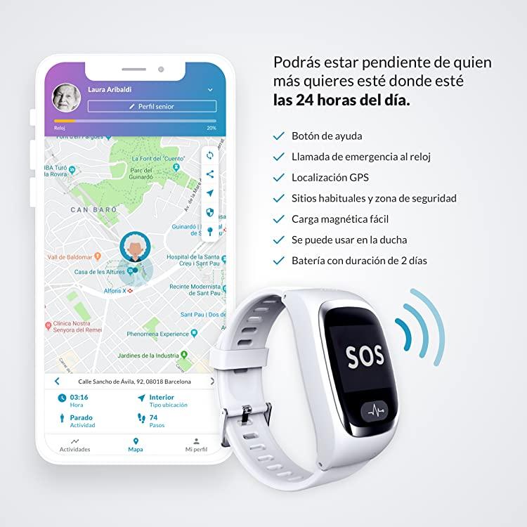 luzia asistente virtual en relojes de protección senior de SeniorDomo